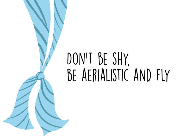 Don't by shy, be aerialistic and fly - Postcard - Ansichtkaart - A004