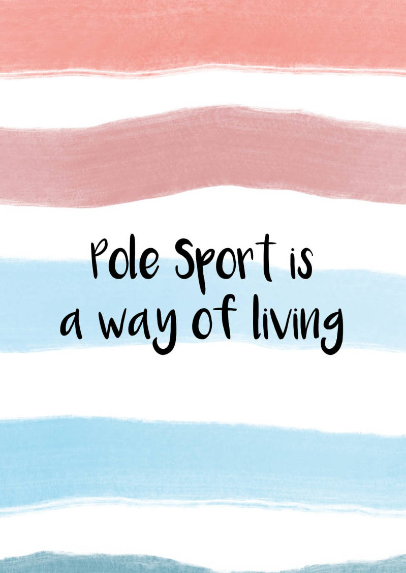 Pole Sport is a way of Living - Postcard - Ansichtkaart - A009