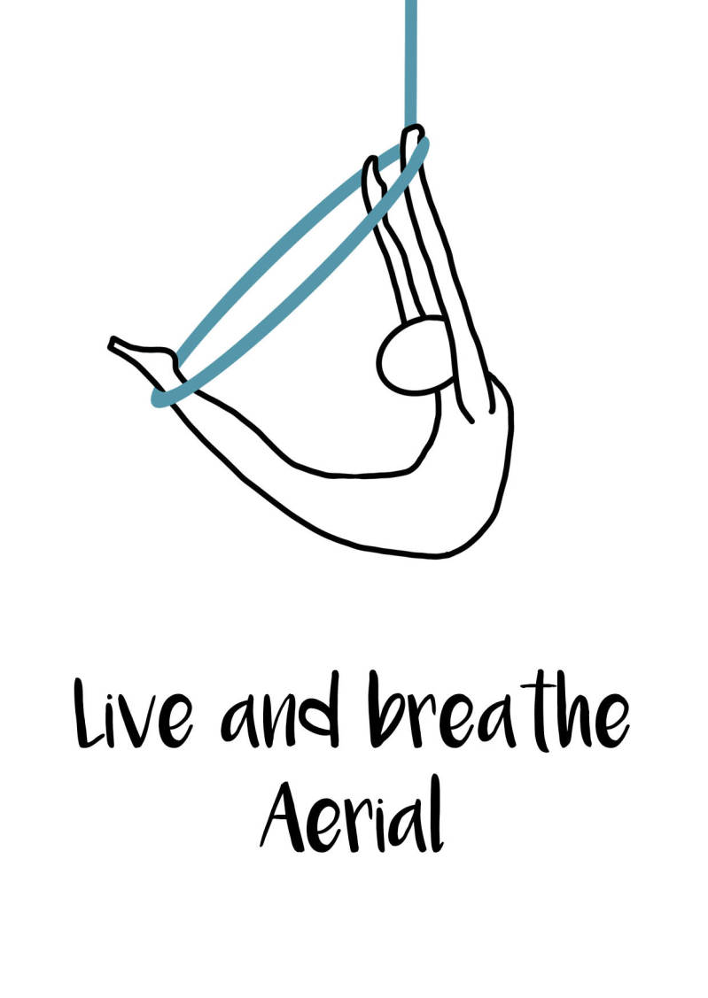 Live and breathe Aerial - Postcard - Ansichtkaart - A010