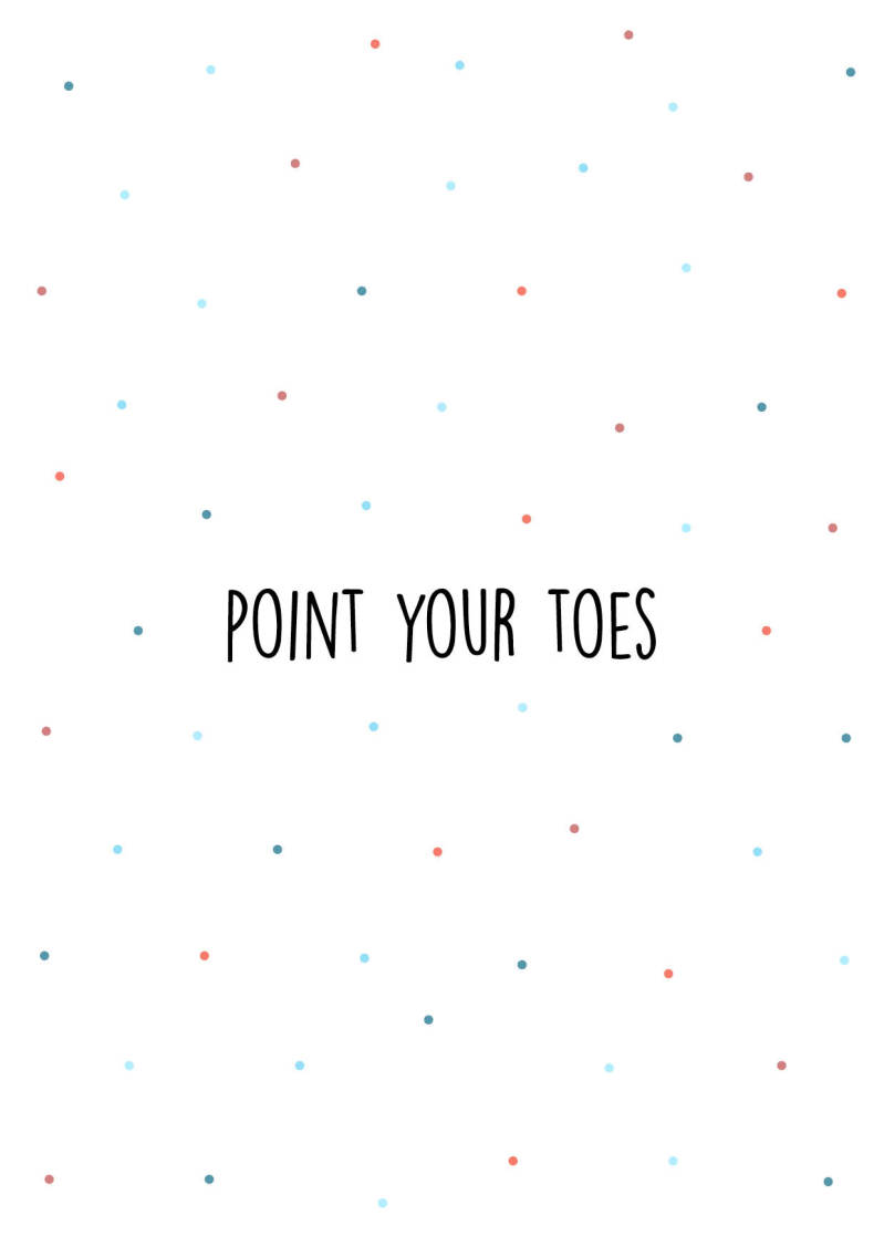 Point your toes - Postcard - Ansichtkaart - A017