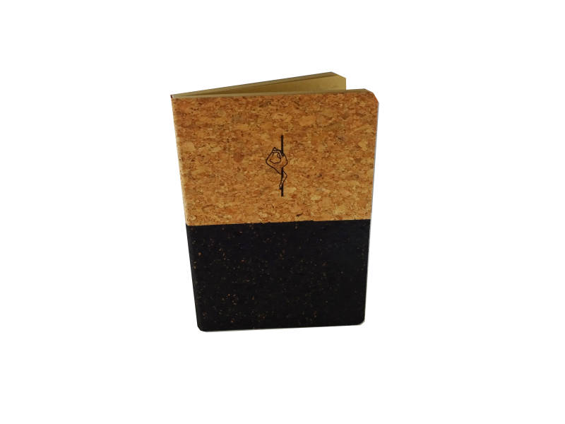 € 10,00 Notebook A5  Eco Cork Black - Pole - Eagle