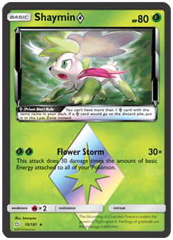 Shaymin - 10/181 - S&M TeamUp - Prism Rare