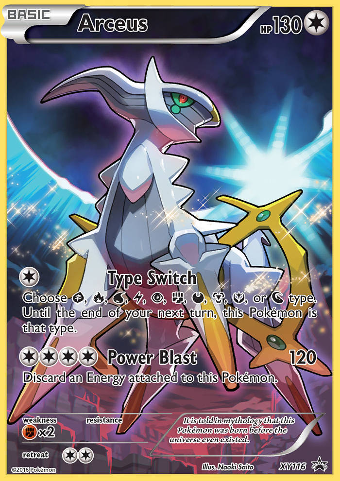 XY116 Promo Arceus Full Art