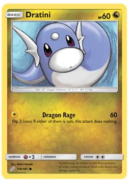 Dratini - 116/181 - S&M TeamUp - Common