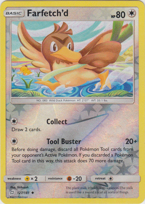 Farfetch'd - 127/181 - S&M TeamUp - Uncommon Reverse Holo