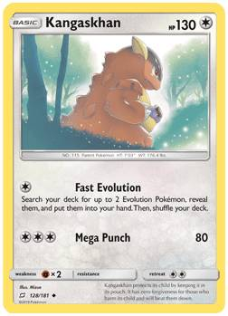 Kangaskhan- 128/181 - S&M TeamUp - Uncommon Reverse Holo
