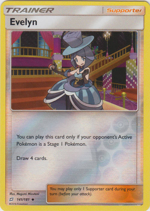 Evelyn - 141/181 - S&M TeamUp - Uncommon Reverse Holo