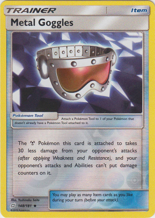 Metal Goggles - 148/181 - S&M TeamUp - Uncommon Reverse Holo