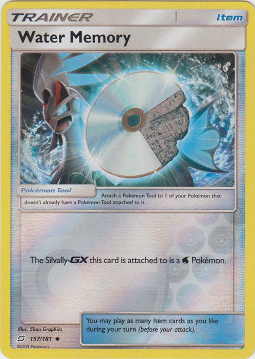 Water Memory - 157/181 - S&M TeamUp - Uncommon Reverse Holo