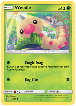 Weedle - 2/181 - S&M TeamUp - Common