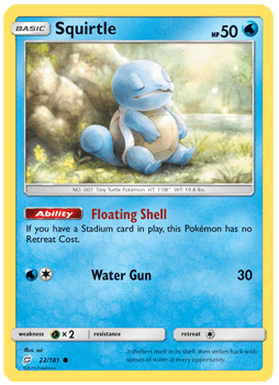 Squirtle - 22/181 - S&M TeamUp - Common