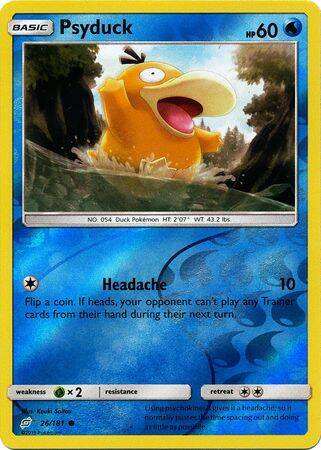 Psyduck - 26/181 - S&M TeamUp - Common Reverse Holo