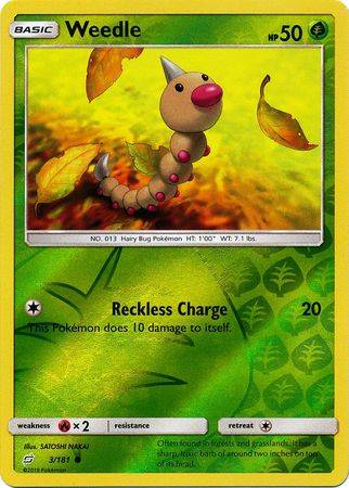 Weedle - 3/181- S&M TeamUp - Common Reverse Holo