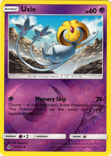 Uxie -41/131- S&M Forbidden Light - Uncommon Reverse Holo
