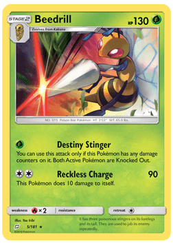 Beedrill - 5/181 - S&M TeamUp - Rare