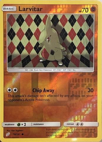 Larvitar - 79/181 - S&M TeamUp - Common Reverse Holo