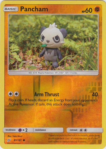 Pancham - 81/181 - S&M TeamUp - Common Reverse Holo