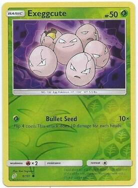 Exeggcute - 8/181 - S&M TeamUp - Common Reverse Holo