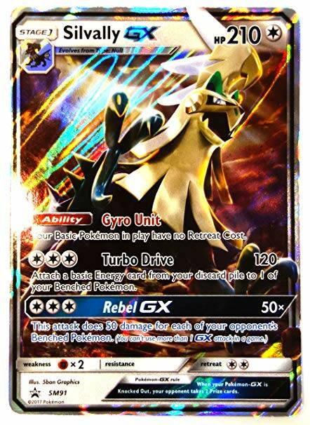 JUMBO Oversized Card SM 91 Silvally GX