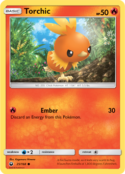 Torchic - 25/168 - S&M Celestial Storm - Common