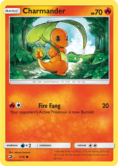 Charmander - 1/70 - S&M Dragon Majesty - Common
