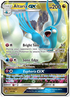 Altaria - 41/70 - S&M Dragon Majesty - Full Art GX