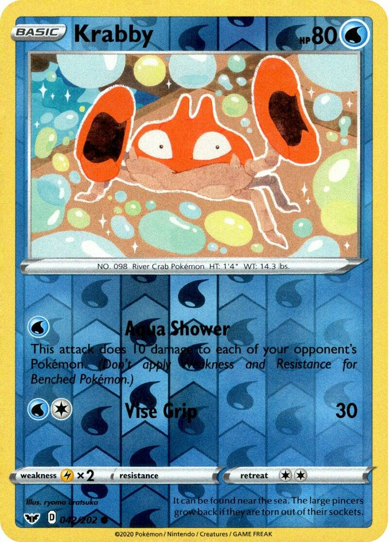 Krabby 42/202 - Sword & Shield - Common Reverse Holo