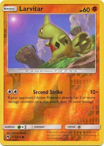 Larvitar - 115/214 - S&M Lost Thunder - Common Reverse Holo