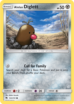 Alolan Diglett - 122/214 - S&M Lost Thunder - Common