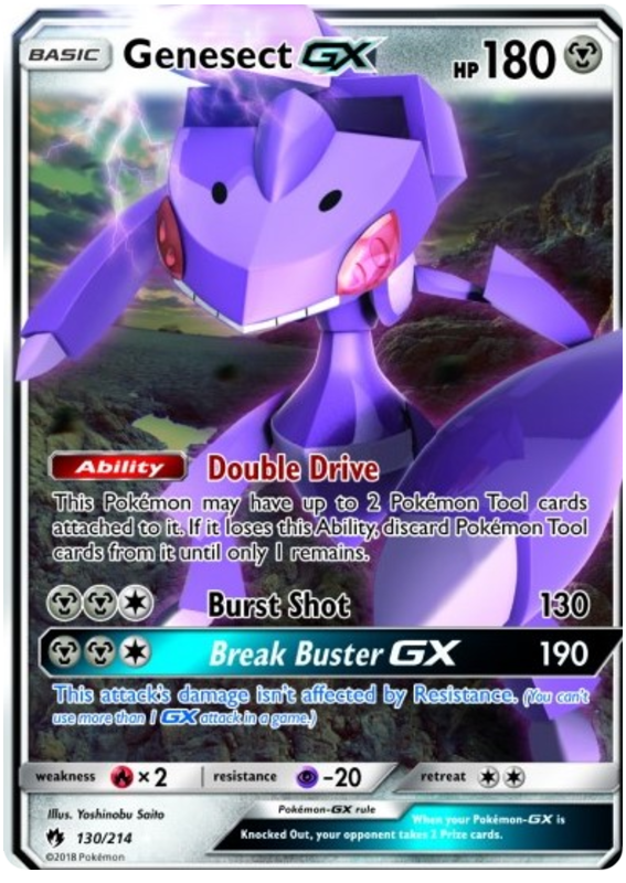 Genesect - 130/214 - S&M Lost Thunder - Ultra Rare GX