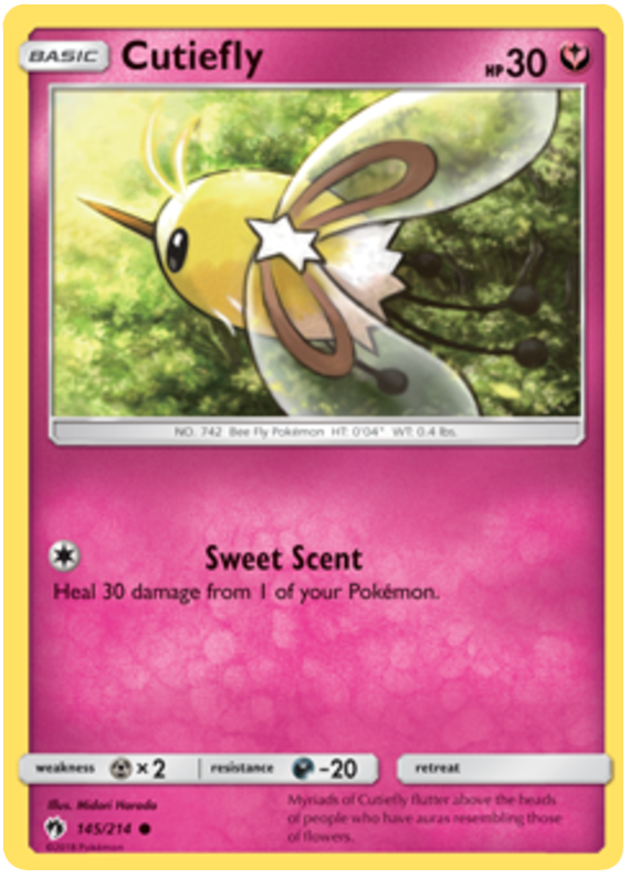 Cutiefly - 145/214 - S&M Lost Thunder - Common