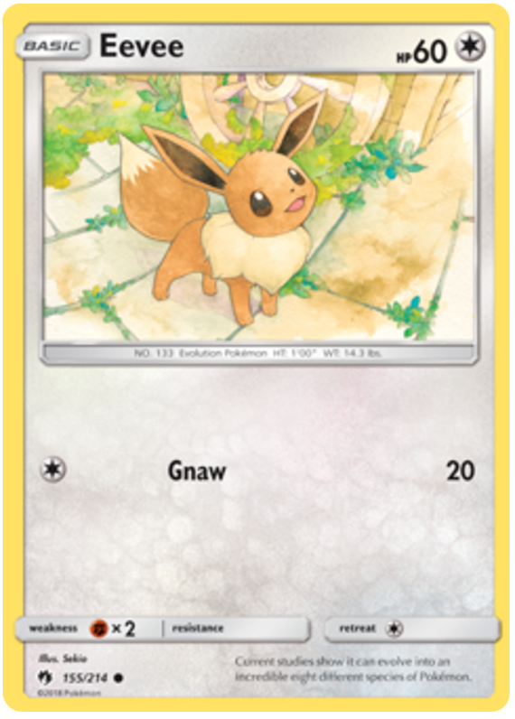 Eevee - 155/214 - S&M Lost Thunder - Common
