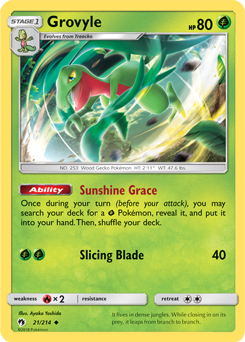 Grovyle - 21/214 - S&M Lost Thunder - Uncommon