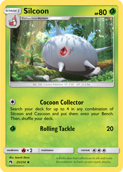Silcoon - 26/214 - S&M Lost Thunder - Uncommon