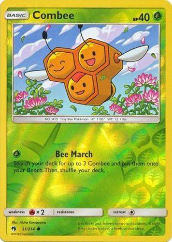 Combee - 31/214 - S&M Lost Thunder - Common Reverse Holo