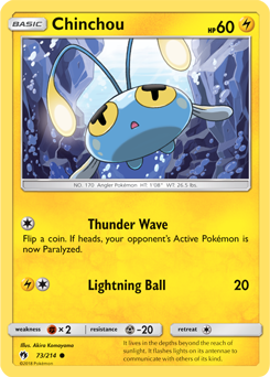 Chinchou - 73/214- S&M Lost Thunder - Common