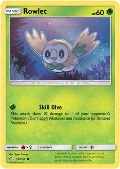 Rowlet 18/236 - Cosmic Eclipse - Common