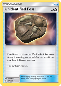 Unidentified Fossil 207/236 - Cosmic Eclipse - Uncommon