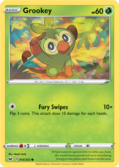 Grookey 10/202 - Sword & Shield - Common