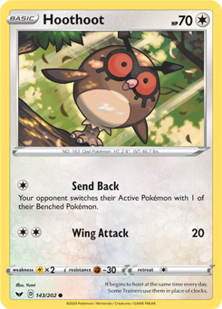 Hoothoot 143/202 - Sword & Shield - Common