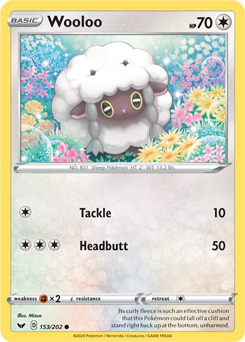 Wooloo 153/202 - Sword & Shield - Common