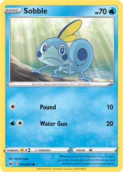 Sobble 55/202 - Sword & Shield - Common