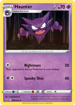 Haunter 84/202 - Sword & Shield - Uncommon