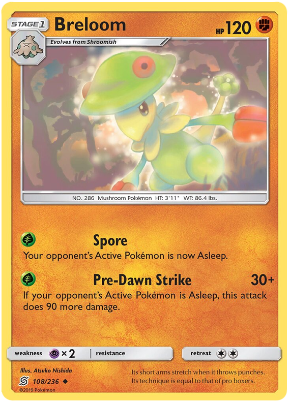 Breloom -108/236- S&M Unified Minds - Uncommon