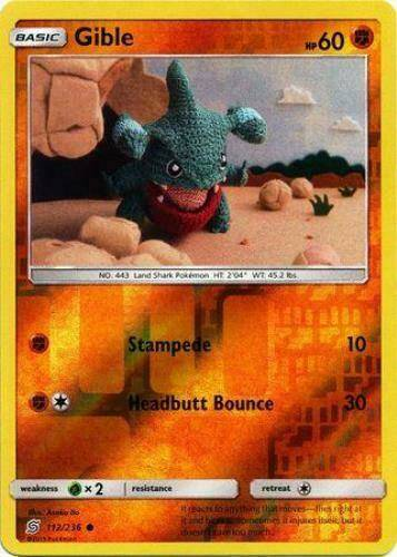 Gible -112/236- S&M Unified Minds - Common Reverse Holo