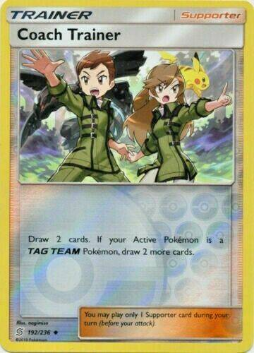 Coach Trainer -192/236- S&M Unified Minds - Uncommon Reverse Holo