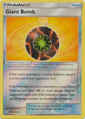 Giant Bomb -196/236- S&M Unified Minds - Uncommon Reverse Holo