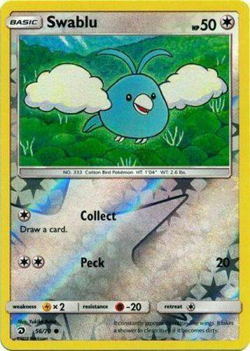 Swablu - 56/70 - S&M Dragon Majesty - Common Reverse Holo