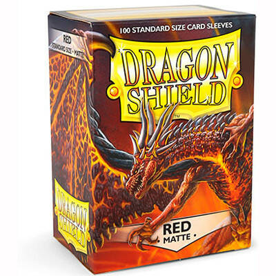 Sleeves Dragon Shield Matte - Standard - Red (100 stuks)