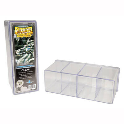 STORAGE Box Dragon Shield 4 compartment box - Clear